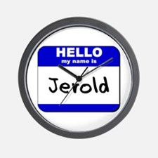 hello my name is jerold  Wall Clock