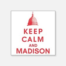 Keep Calm And Madison Sticker