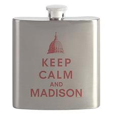 Keep Calm And Madison Flask