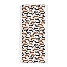 Dachshund White Beach Towel