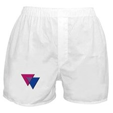 Triangles Symbol - Bisexual Pride Flag Boxer Short
