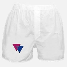 Triangles Symbol - Bisexual Pride Flag Boxer Short
