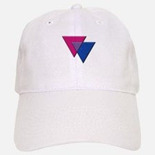 Triangles Symbol - Bisexual Pride Flag Baseball Ca