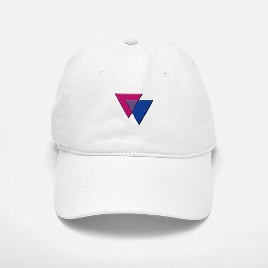Triangles Symbol - Bisexual Pride Flag Baseball Ca