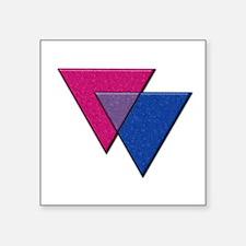 Triangles Symbol - Bisexual Pride Flag Sticker