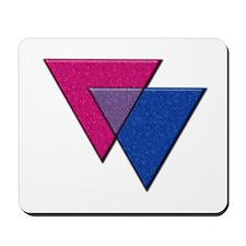 Triangles Symbol - Bisexual Pride Flag Mousepad