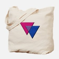 Triangles Symbol - Bisexual Pride Flag Tote Bag