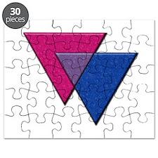 Triangles Symbol - Bisexual Pride Flag Puzzle