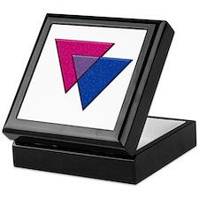 Triangles Symbol - Bisexual Pride Flag Keepsake Bo