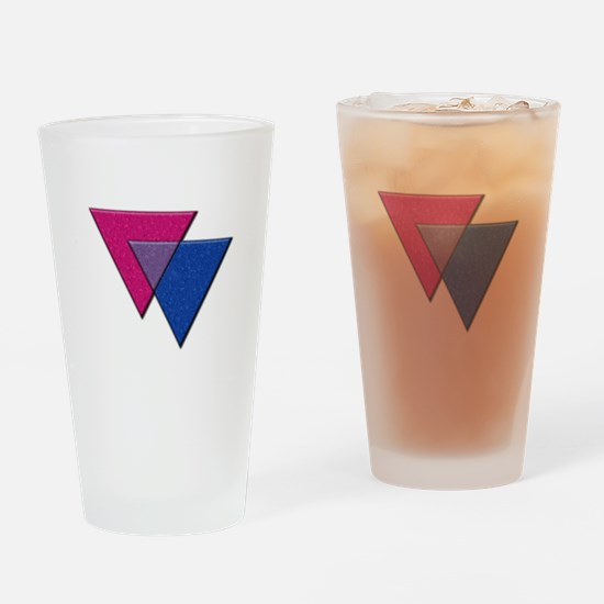 Triangles Symbol - Bisexual Pride Flag Drinking Gl