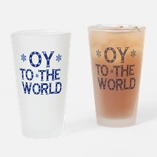 OY To The World Drinking Glass