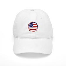 USA Flag Round Baseball Cap