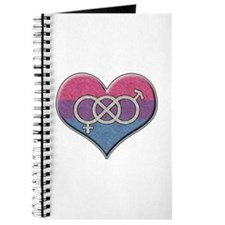 Bisexual Pride Heart with Gender Knot Journal