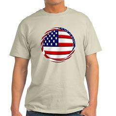 USA Flag Round T-Shirt