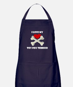 I Love My Toy Fox Terrier Apron (dark)