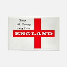 St. George's Flag Rectangle Magnet