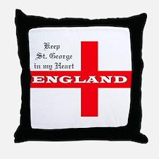 St. George's Flag Throw Pillow
