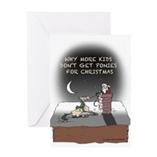 Xmas Pony Delivery Greeting Card