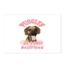 Puggles are a girls best frie Postcards (Package o
