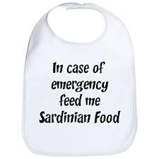 Feed me Sardinian Food Bib