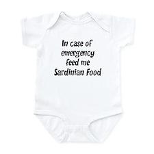 Feed me Sardinian Food Infant Bodysuit