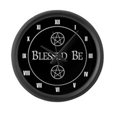 Blessed Be Large Wall Clock