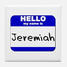 hello my name is jeremiah  Tile Coaster