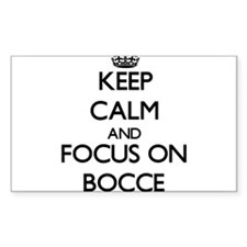 Keep calm and focus on Bocce Decal