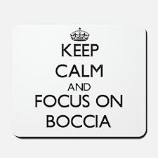 Keep calm and focus on Boccia Mousepad