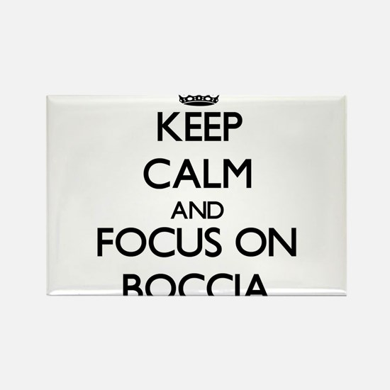 Keep calm and focus on Boccia Magnets