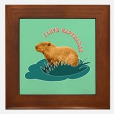 I Love Capybaras Framed Tile