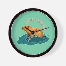 I Love Capybaras Wall Clock