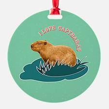 I Love Capybaras Ornament