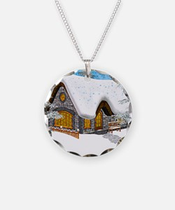 Winter Cottage Necklace