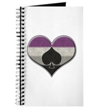 Asexual Pride Heart with Spade Journal