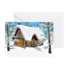 Winter Cottage Greeting Cards