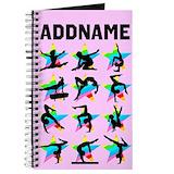 Add name gymnast Journals & Spiral Notebooks