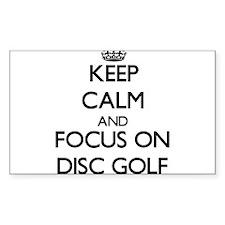 Keep calm and focus on Disc Golf Decal