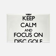 Keep calm and focus on Disc Golf Magnets