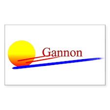 Gannon Rectangle Decal