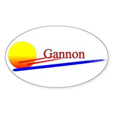 Gannon Oval Decal