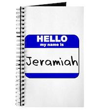 hello my name is jeramiah Journal