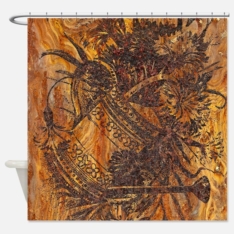 rusty watering can Shower Curtain