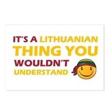 Lithuanian smiley designs Postcards (Package of 8)