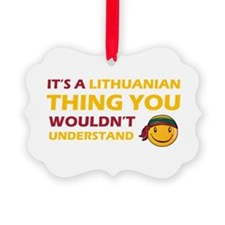 Lithuanian smiley designs Ornament