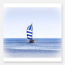 "Nautical Dreams Square Car Magnet 3"" x 3"""