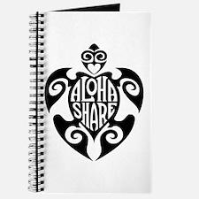 Aloha Share Honu (Black) Journal