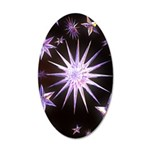 Sparkling Stars 35x21 Oval Wall Decal