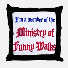 Ministry of Funny Walks Throw Pillow