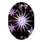 Sparkling Stars Ornament (Oval)